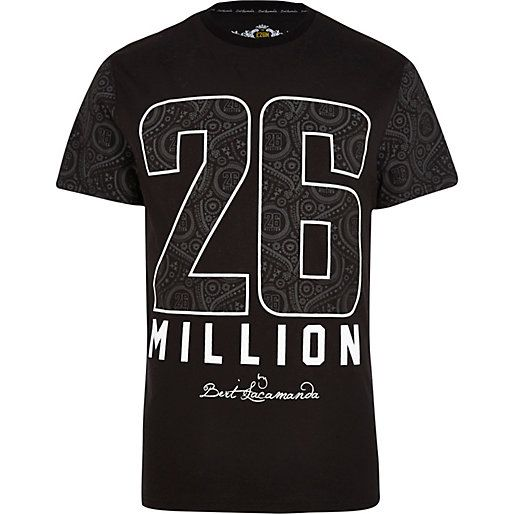 Black 26 Million paisley print t-shirt - branded t-shirts - t-shirts / vests - men