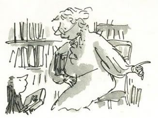 """Mrs. Phelps, the school librarian in Matilda, is """"watchful and compassionate"""". #caregiver #archetype #brandpersonality"""