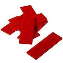 Cales PVC autodrainantes 2mm  rouge  ( 200 pièces  = 20 m² )