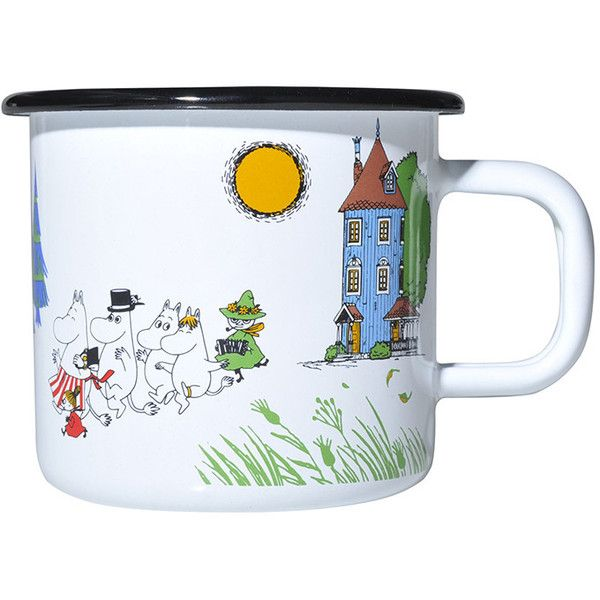Muurla Moomin Colours Mug - Moomin Valley (€20) ❤ liked on Polyvore featuring home, kitchen & dining, drinkware, fillers, decoration, mugs, stuff, multi, white mugs and colored drinkware