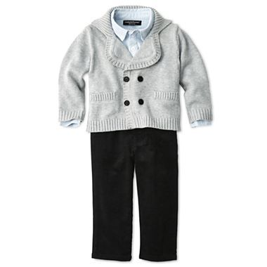 THS ONE  Wendy Bellissimo™ 3-pc. Cardigan Pant Set - Boys 6m-24m - jcpenney