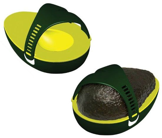 Avocado Saver: I could eat an avocado every day, but since one avocado contains over 300 calories, it's best to eat a half one day and save the other half for later. It browns easily, though, so I found a solution — the Avocado Saver ($4). It reduces the amount of air exposure and keeps half an avocado fresh.