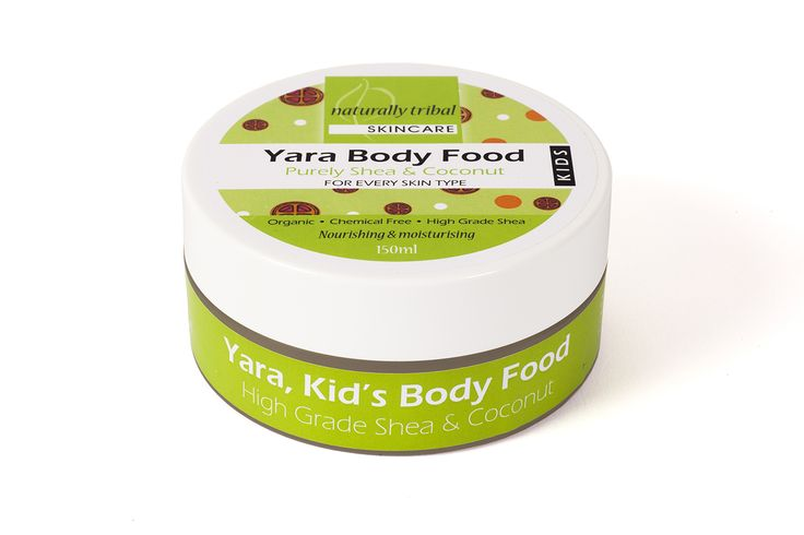 NATURALLY TRIBAL'S YARA BODY FOOD. The soothing, healing, protecting and enriching properties of our high-grade Shea butter and coconut oil are brilliant for hydrating and nourishing sensitive skin.  With regular use, YARA Body Food can also help to manage many skin conditions including eczema and psoriasis.