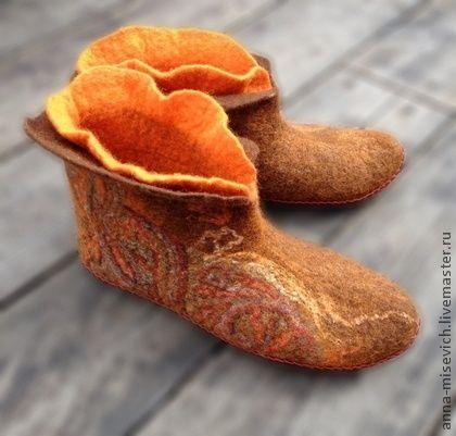 """Обувь ручной работы. Ярмарка Мастеров - ручная работа Чуни """"Русский стиль"""". Handmade."""