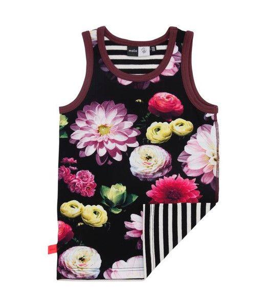 Molo Joshlyn Black Flowering Vest Top