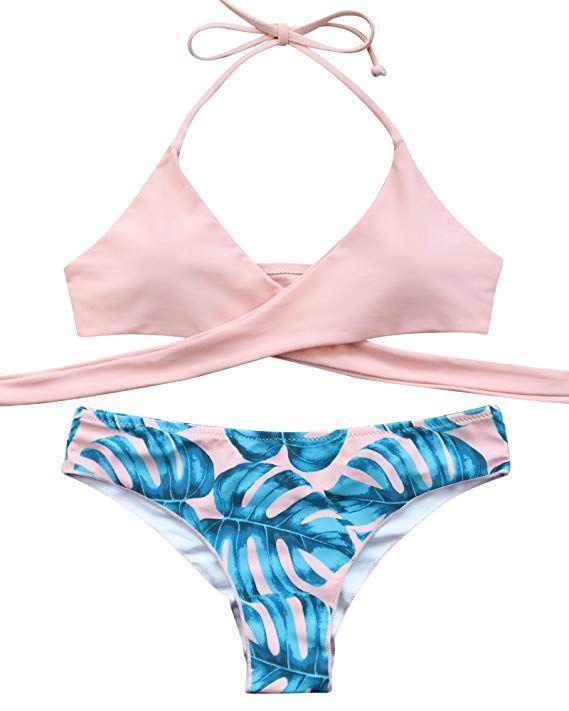 1e697e0db1 MOOSKINI Womens Padded Push-up Bikini Set Bathing Suits Two Pieces Swimsuit