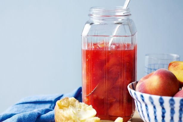 Preserve fresh fruit to enjoy year-round in this passionfruit, peach and orange jam.