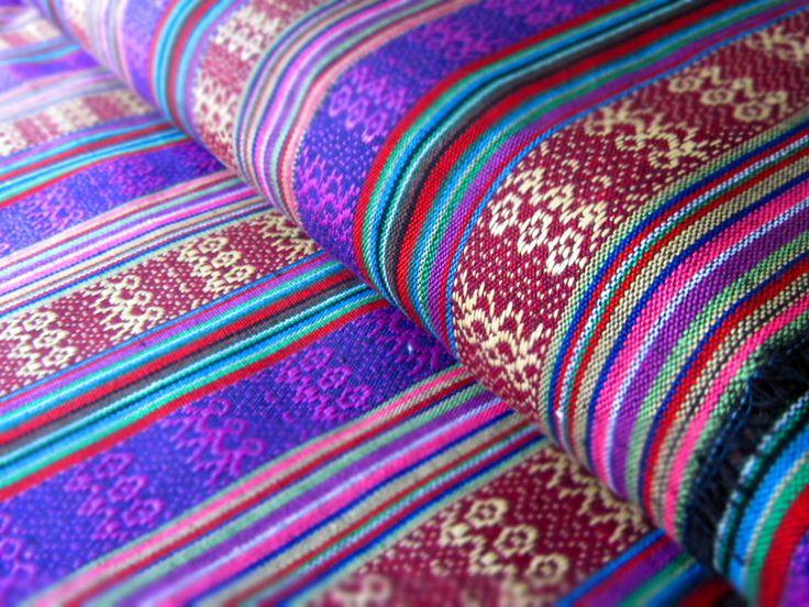 Mexikanischer Ethno Stoff - lila { Ikat Muster } von miss minty auf DaWanda.com