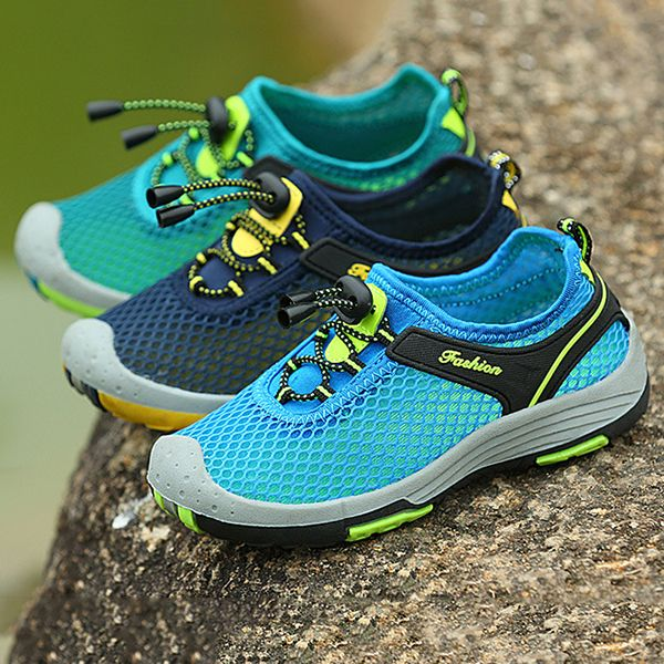 Boys Breathable Adjustable Anti-collision Outdoor Hiking Sneakers Online - NewChic