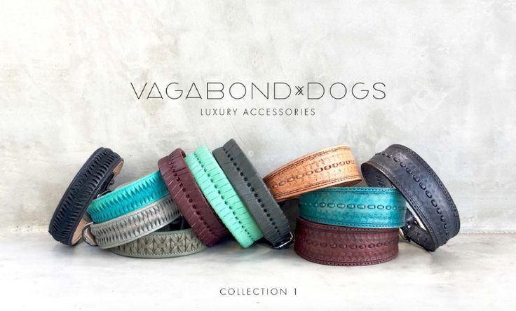 FREE SHIPPING WORLDWIDE!  Vagabond Dogs is a tragically cool dog accessories company that designs & fabricates beautiful leather collars, leashes, custom dog bags, luxury apparel and much more.