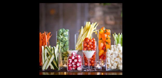 Table Decoration Ideas: Table Decorations, Table Decorating, Crudité, Glasses, Jars, Martini Glasses, Dip