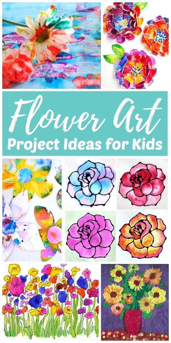 Easy Flower Art Projects Kids Love Kids Art Projects Easy Art