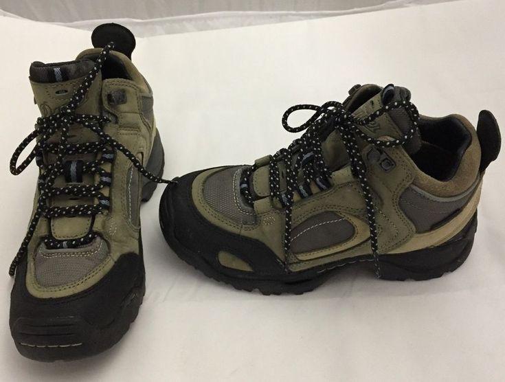 Danner Hiking Boots Agitator Gore Tex Womens 6.5 Gray 45108 Leather Fabric Upper #Danner