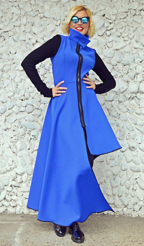 Check out this item in my Etsy shop https://www.etsy.com/listing/473834992/blue-neoprene-jacket-asymmetrical