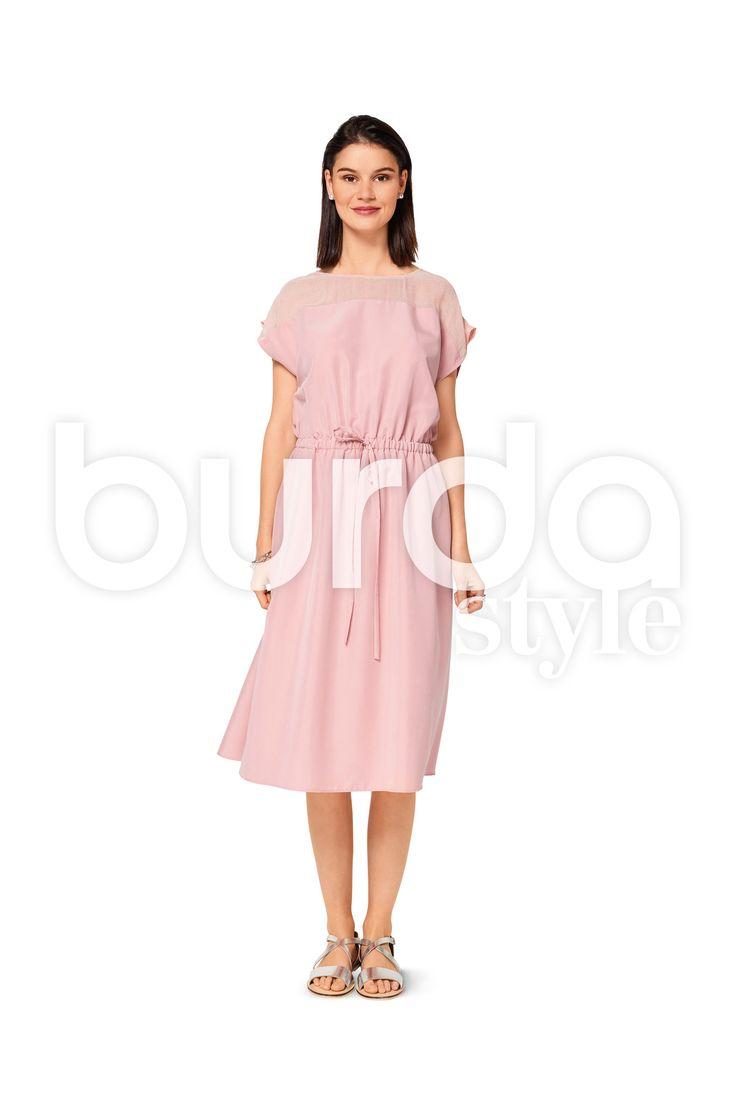 Burda Style Pattern BD6509 Misses' Elastic Waist Dress