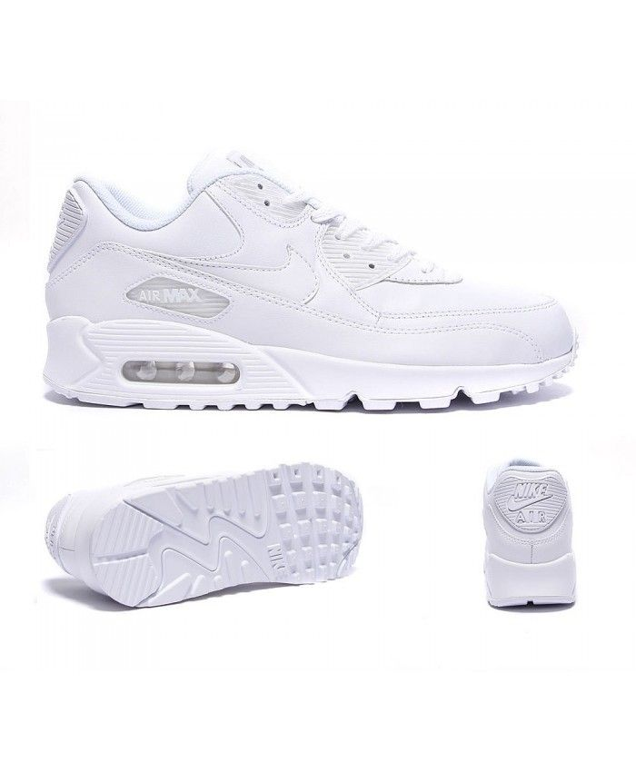 nike air max 90 leather trainers white s92264