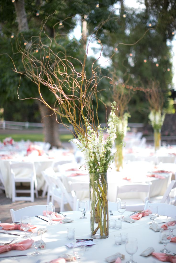25 best ideas about willow branch centerpiece on for Twigs decoration for weddings
