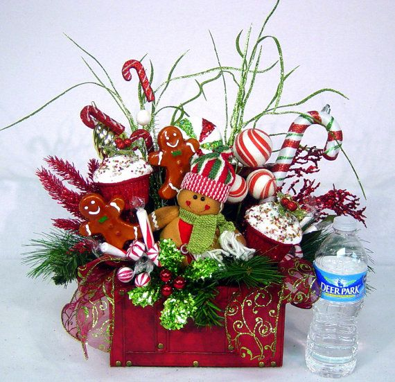 Gingerbread Sweet Treat Christmas Floral by cabincovecreations