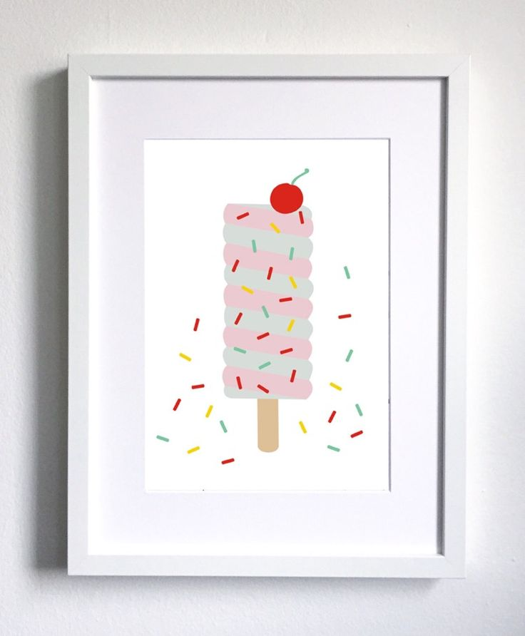 We are dreaming of summer, so we couldn't help but draw an icecream! 😊 If you are courious what we match it to please check our Etsy shop! #twowallnuts #etsy #etsytwowallnuts #icecream #sprinkles #red #pink #cherry #childrenswallart #illustration #childrensroomprint #kidsroom #kidsprint #childrensart #homedecor #decor #art #arts #drawing #childrenillustration