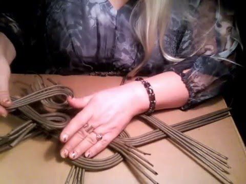 Ажуры на крышках для плетеных шкатулок. Мастер-класс, часть 3 - YouTube