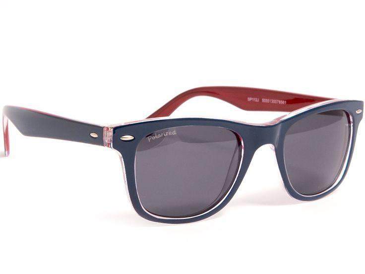 Okulary przeciwsłoneczne Wayfarer Sunoptic 112 J polaryzacyjne z filtrem UV dla kierowców