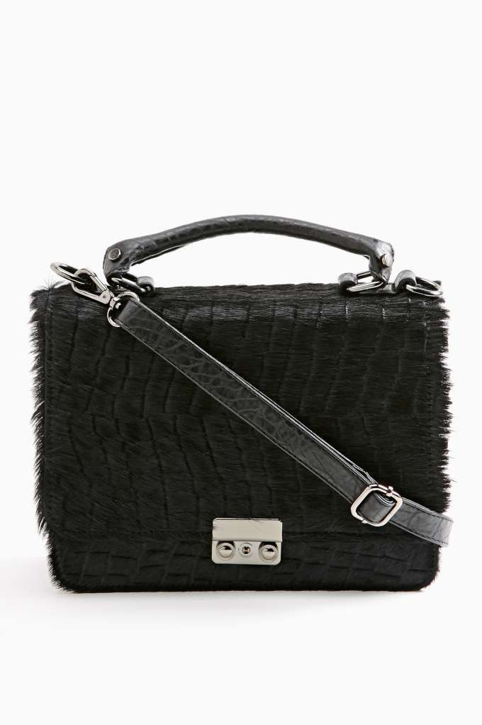 Nasty Gal Cher Fur Satchel
