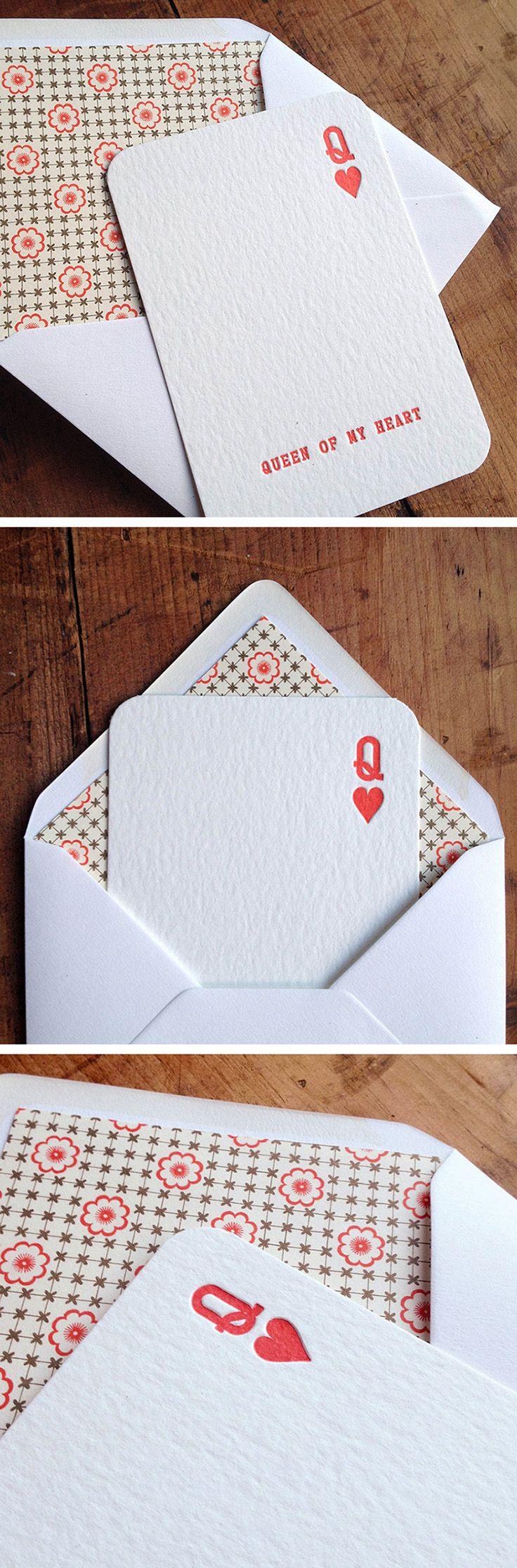 valentines card, #letterpress