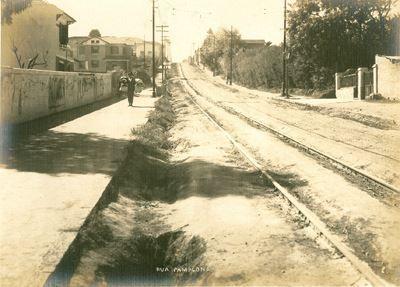 1920 - Rua Pamplona, próxima a região da avenida Paulista.