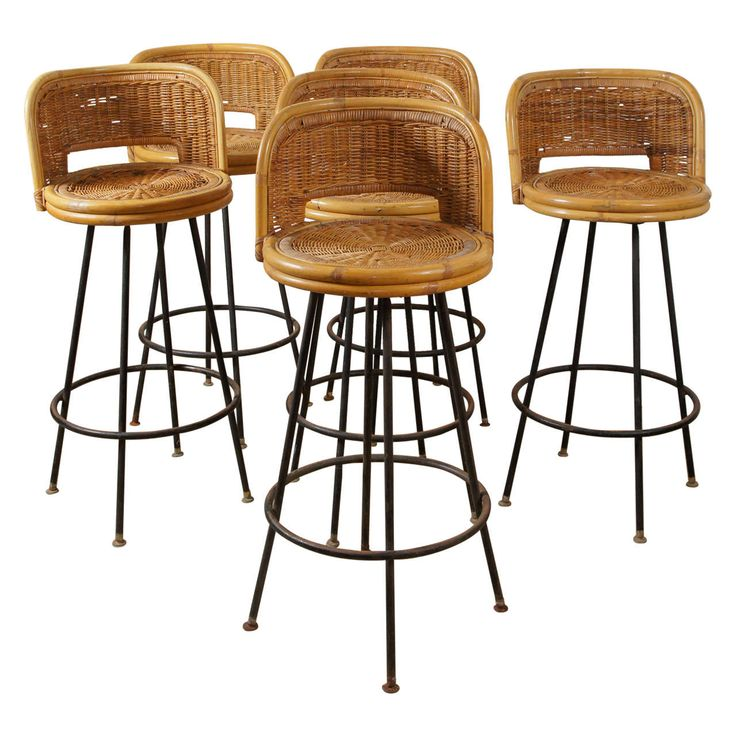 Braxton Pe Wicker Swivel Stool With Arms O W Lee Madison