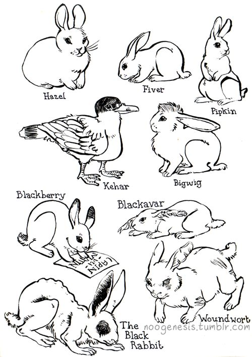 watership down coloring pages sketch coloring page
