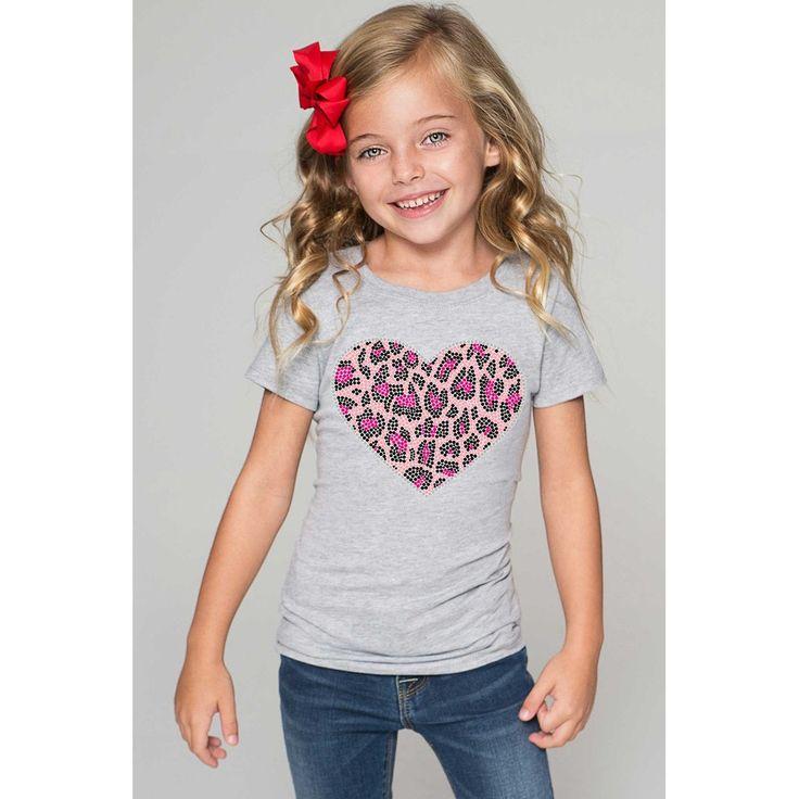 Pink Heart Tee - Girls