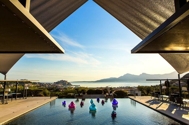 La Villa Spa. Calvi (Corsica). #relaischateaux #lavilla #swimmingpool #pool #corse #corsica #luxury #hotel