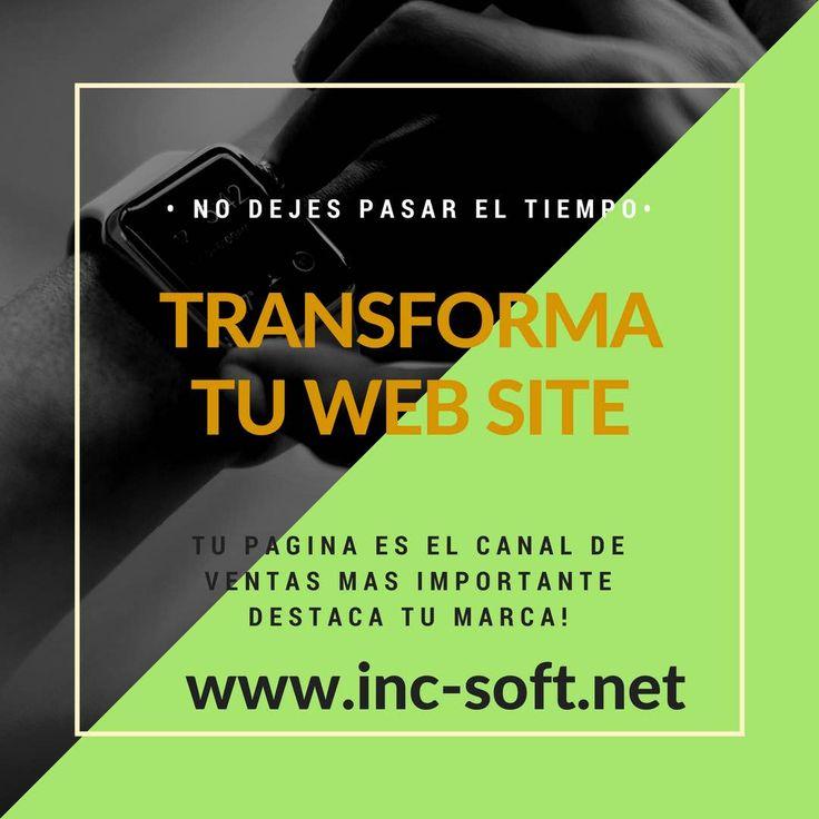 #IncSoft sabias que el tener un sitio web hace que tus clientes confien en tu producto actualiza tu canal de ventas www.inc-soft.ne t