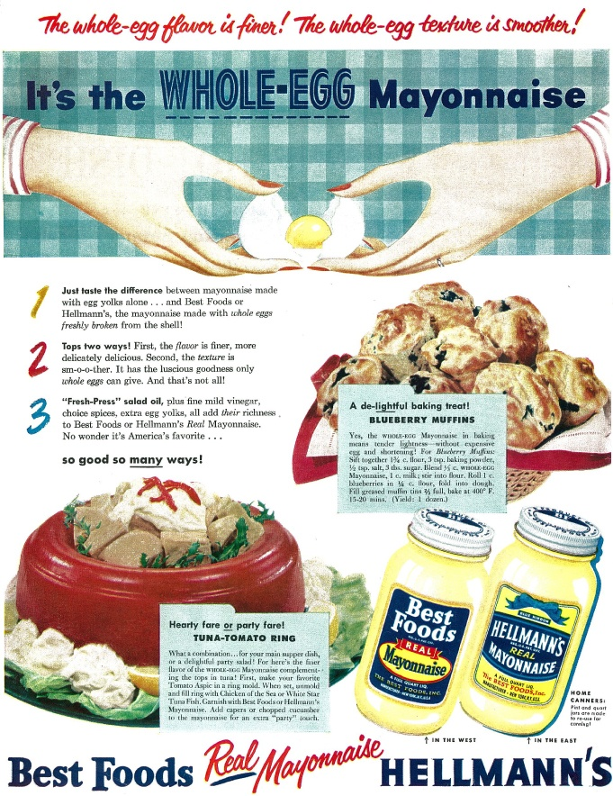 Vintage Hellmann's Recipes and Advertisements to Celebrate 100 Years of Bringing Out The Best! #Hellmanns100