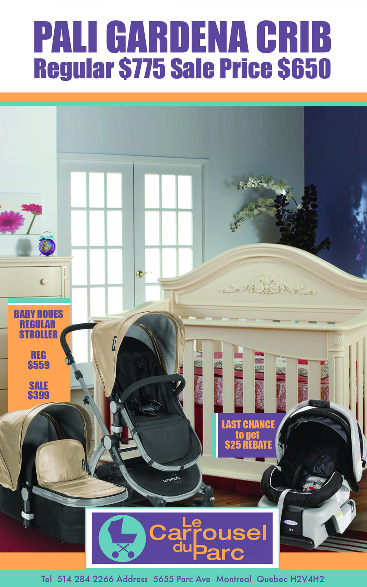 Crib thanksgiving sale - Come To Carrousel Du Parc For A Fantastic Sale On Baby Roues Strollers Pali Gardena