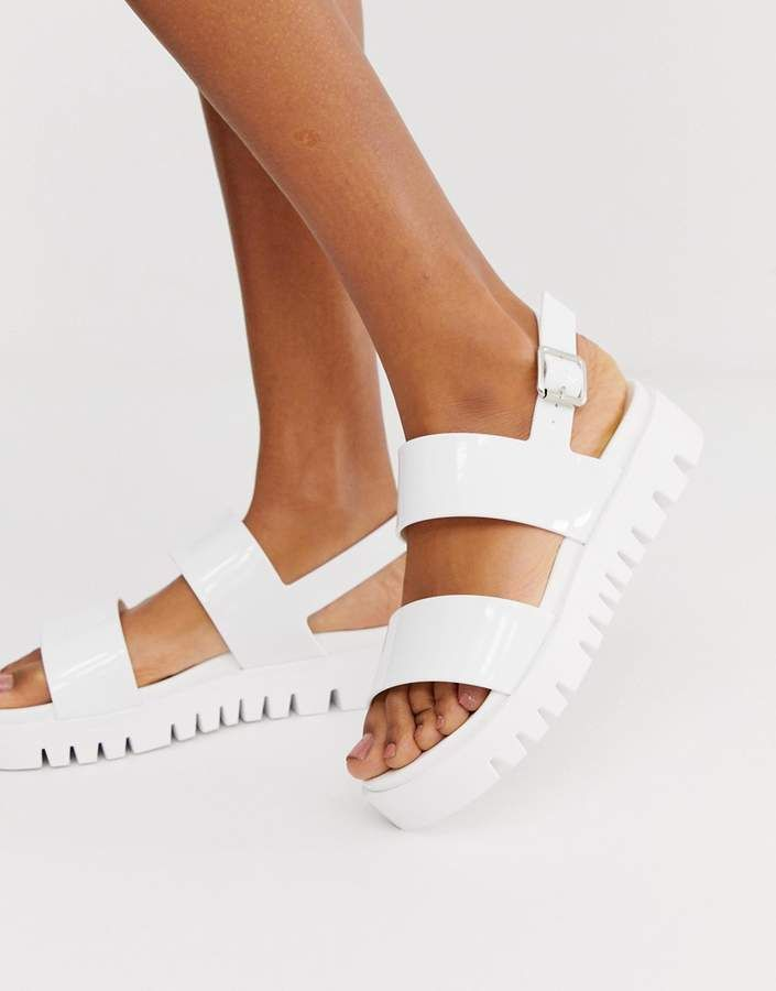 Chunky Jelly Flat Sandals   Jelly flats