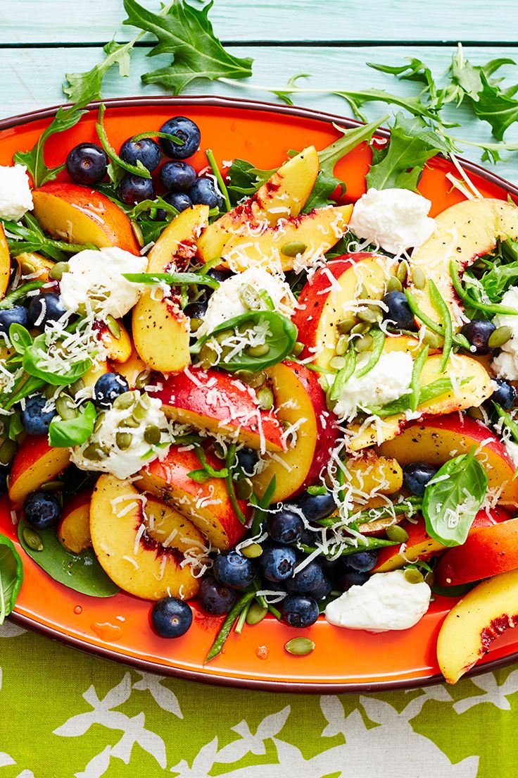 Team your favourite fresh summer fruit with creamy ricotta, fresh spinach leaves, basil and chilli for a unique, delicious side dish for any outdoor gathering.