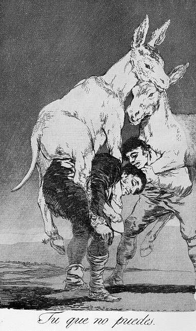 Francisco Goya, Thou who cannot,  Los Caprichos no. 42