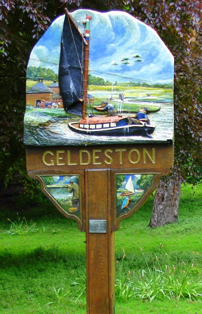 Geldeston Village sign.