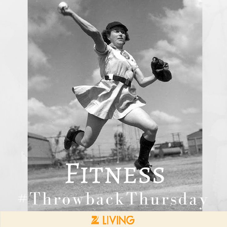 """This week's #Fitness #throwbackthursday - Alma """"Ziggy"""" Ziegler, Team Captain of the Grand Rapids Chicks of 1950. If the """"All American Girls"""" anthem from """"A League Of Their Own"""" isn't playing in your head right now, you're off the #squad. #TBT"""