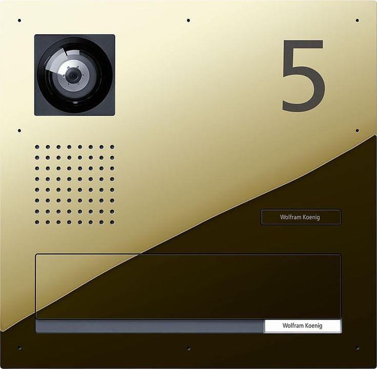 SSS Siedle Classic - custom video door station with number & letterbox #Intercom