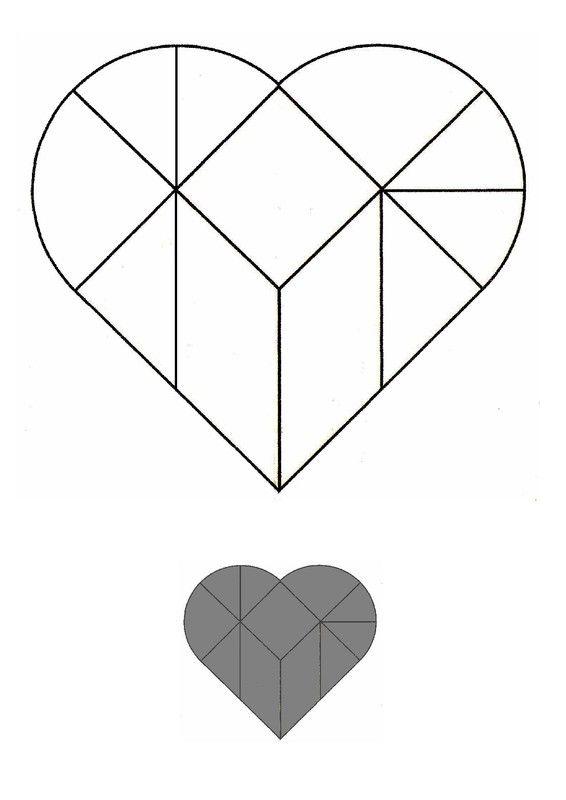 Tangram coeur pour les plus grands