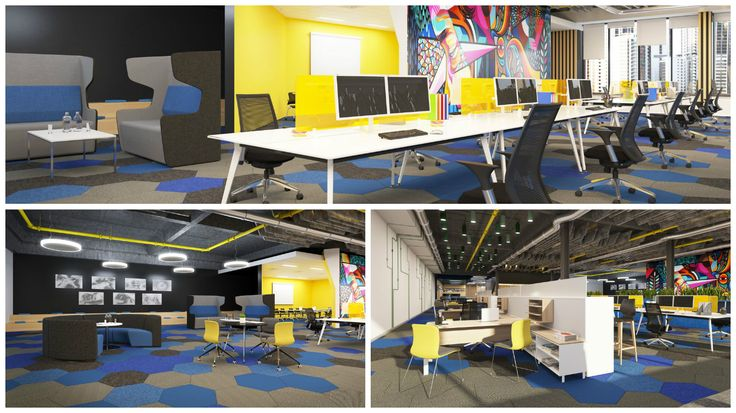 Here's just another example of how to use furniture to create an exciting activity-based-working office environment.  http://www.jpofficeworkstations.com.au/