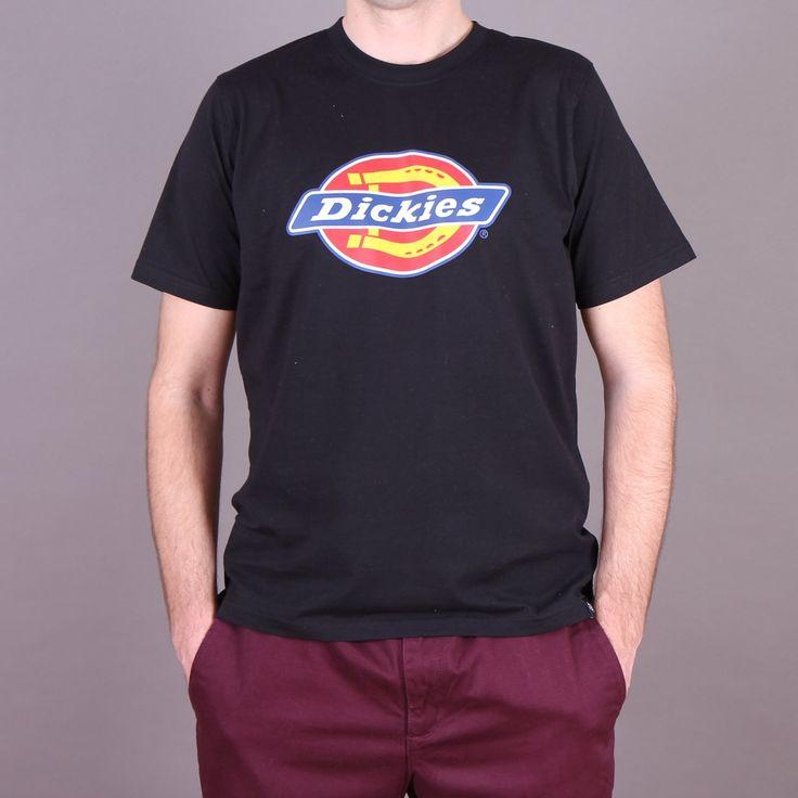 Czarna męska koszulka z nadrukiem Dickies Horseshoe T-shirt Black / www.brandsplanet.pl / #dickies streetwear #czarny t-shirt