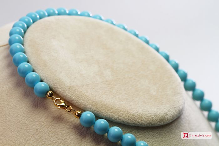 Extra #Turquoise #Necklace 8mm in Gold 18K [various lengths] #Collana #Turchese Extra 8mm in Oro 18K [varie lunghezze] #jewelery #luxury #trend #fashion #style #italianstyle #lifestyle #gold #silver #store #collection #shop #shopping #showroom #mode #chic #love #loveit #lovely #style #beautiful #pretty #madeinitaly #bestoftheday #necklace #necklaceforsale