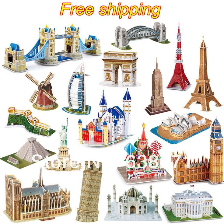 Hot Selling Magic 3D Puzzle Kids Educational Toys DIY Paper Puzzles Jigsaw For Children Adults House Castle Famous Building-in Puzzles from Toys & Hobbies on Aliexpress.com | Alibaba Group