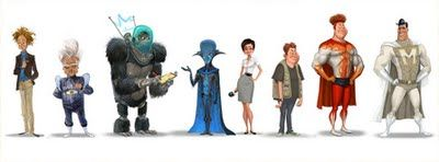 Megamind (2010) - Concept Art, Other Characters