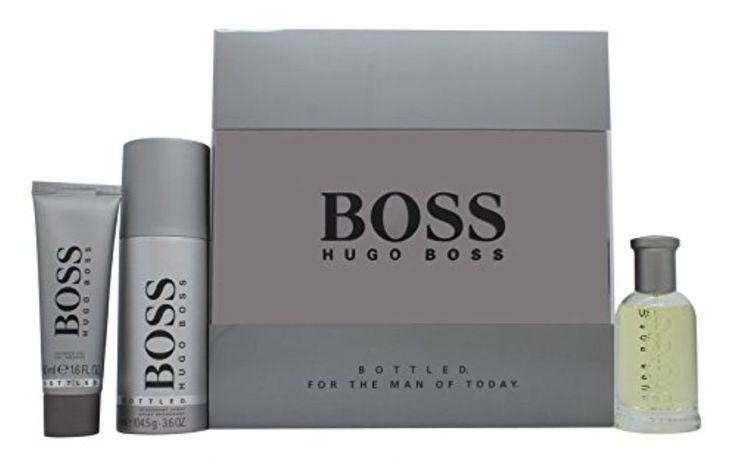 Boss Bottled EDT 50ml Gift Set + 50ml Shower Gel + 150ml Deodorant Spray #30-ml #boss #eau-de-toilette