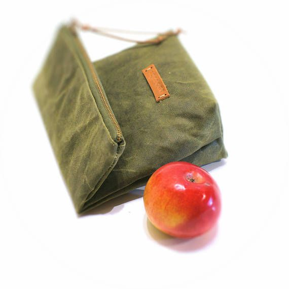 Waxed+canvas+lunch+bag+eco+friendly+bag+for+men+bag+for