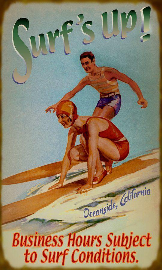 Surf Conditions Sign -Beach house Sign Summer Beach House Decor! - Vintage Beach Signs by Meissenburg Designs.